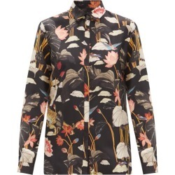 Etro - Floral-print Silk-faille Shirt - Womens - Black Multi found on Bargain Bro UK from Matches UK