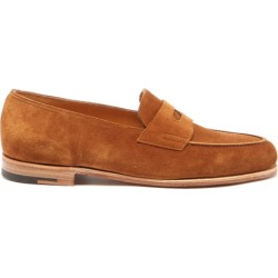 John Lobb - Lopez Suede Penny Loafers - Mens - Dark Brown found on MODAPINS from Matches Global for USD $1495.00