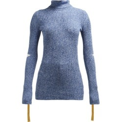 2 Moncler 1952 - Roll-neck Cotton-blend Sweater - Womens - Blue Multi found on Bargain Bro India from Matches Global for $640.00