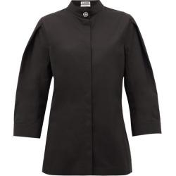 Jil Sander - Saturday P.m. Band-collar Cotton Shirt - Womens - Black found on Bargain Bro UK from Matches UK
