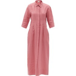 Asceno - New York Organic-linen Shirt Dress - Womens - Dusty Pink found on MODAPINS from MATCHESFASHION.COM - AU for USD $446.29