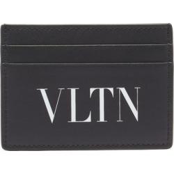 Valentino Garavani - Vltn-logo Leather Cardholder - Mens - Black White found on Bargain Bro UK from Matches UK