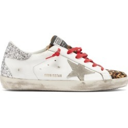 Golden Goose - Superstar Glitter-panelled Leather Trainers - Womens - White Multi found on Bargain Bro UK from Matches UK