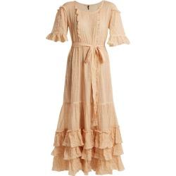 Lisa Marie Fernandez - January Striped Seersucker Dress - Womens - Orange Stripe found on Bargain Bro UK from Matches UK