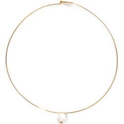 Jil Sander - Pearl & Gold-dipped Choker - Womens - Pearl found on Bargain Bro UK from Matches UK