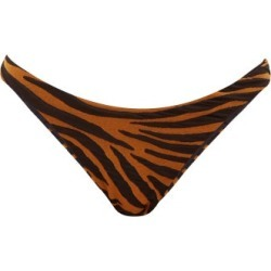 Mara Hoffman - Reva Tiger-jacquard Bikini Briefs - Womens - Brown Print found on MODAPINS from Matches Global for USD $46.00