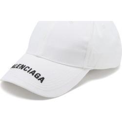 Balenciaga - Logo-embroidered Cotton-twill Baseball Cap - Mens - White found on Bargain Bro UK from Matches UK