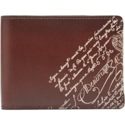 Berluti - Essentiel Lasered Scritto Leather Bi Fold Wallet - Mens - Brown found on MODAPINS from Matches UK for USD $696.78