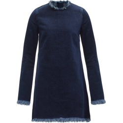Marques'almeida - Janis Raw-edged Denim Mini Dress - Womens - Dark Denim found on MODAPINS from Matches UK for USD $193.22