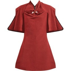 Ellery - Holly Of Hollies Caped Cotton-blend Dress - Womens - Burgundy found on MODAPINS from MATCHESFASHION.COM - AU for USD $243.03