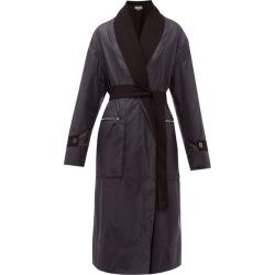 Loewe - Manteau en nylon et laine réversible