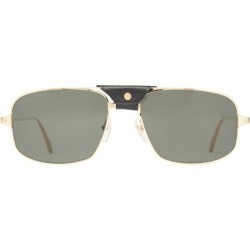 Cartier Eyewear - Lunettes de soleil aviateur en métal found on MODAPINS from matchesfashion.com fr for USD $1001.00