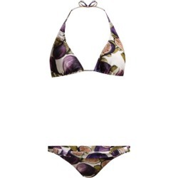 Adriana Degreas - Fig Print Triangle Bikini - Womens - Purple Print found on MODAPINS from Matches UK for USD $293.07