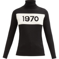 Bella Freud - 1970-intarsia Wool Sweater - Womens - Black found on MODAPINS from MATCHESFASHION.COM - AU for USD $321.78