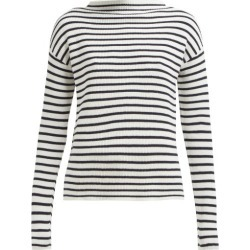 Allude - Boat Neck Striped Cotton Sweater - Womens - Navy Stripe found on MODAPINS from Matches UK for USD $107.01