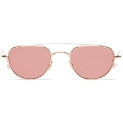 Jacques Marie Mage - Harcourt Double-bridge Round Titanium Sunglasses - Womens - Rose Gold found on MODAPINS from Matches UK for USD $903.63