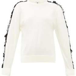 Bella Freud - Lady Day Sequin-sleeve Wool Sweater - Womens - Ivory found on MODAPINS from MATCHESFASHION.COM - AU for USD $114.82
