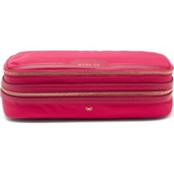 Anya Hindmarch - Make-up Zipped Recycled-fibre Pouch - Womens - Pink found on MODAPINS from Matches UK for USD $293.52