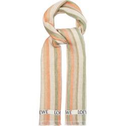Loewe - Logo-jacquard Striped Linen-blend Scarf - Mens - Beige Multi found on Bargain Bro UK from Matches UK