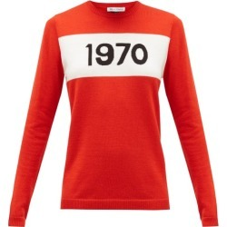Bella Freud - 1970-intarsia Wool Sweater - Womens - Red found on MODAPINS from Matches Global for USD $495.00