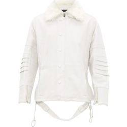 Ambush - Veste en cuir à col en imitation fourrure found on MODAPINS from matchesfashion.com fr for USD $1423.50