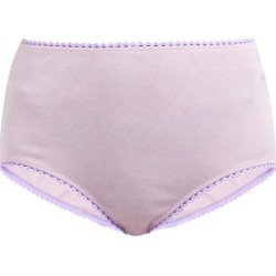 Araks - Mabel High Rise Cotton Briefs - Womens - Light Pink found on MODAPINS from MATCHESFASHION.COM - AU for USD $23.57