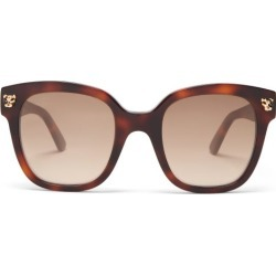 Cartier Eyewear - Panthère De Cartier Square Acetate Glasses - Womens - Tortoiseshell found on MODAPINS from Matches Global for USD $695.00