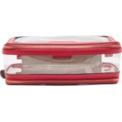 Anya Hindmarch - In-flight Leather And Pvc Travel Bag - Womens - Pink found on MODAPINS from MATCHESFASHION.COM - AU for USD $267.33