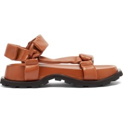Jil Sander - Padded Nappa-leather Flatform Sandals - Womens - Tan found on Bargain Bro UK from Matches UK