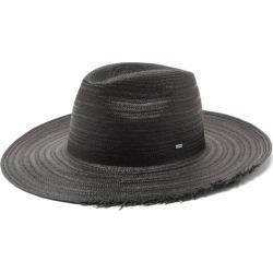 Saint Laurent - Waikiki Logo-plaque Straw Panama Hat - Mens - Black found on Bargain Bro UK from Matches UK
