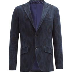 Etro - Diamond-jacquard Cotton-blend Tweed Blazer - Mens - Navy found on Bargain Bro UK from Matches UK