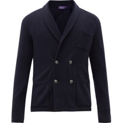 Ralph Lauren Purple Label - Shawl-collar Double-breasted Cashmere Cardigan - Mens - Navy found on Bargain Bro India from MATCHESFASHION.COM - AU for $2710.20