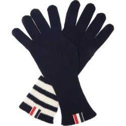 Thom Browne - Tri-colour Striped-cuff Gloves - Mens - Navy found on Bargain Bro UK from Matches UK