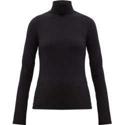 Jil Sander - Roll-neck Stretch-jersey Top - Womens - Black found on Bargain Bro UK from Matches UK