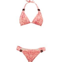 Adriana Degreas - Hydrangea-print Triangle Bikini - Womens - Pink Print found on MODAPINS from Matches Global for USD $160.00