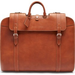 Brunello Cucinelli - Grained-leather Garment Bag - Mens - Brown found on MODAPINS from Matches Global for USD $5195.00