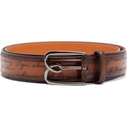 Berluti - B Scritto Leather Belt - Mens - Brown found on MODAPINS from Matches UK for USD $580.05