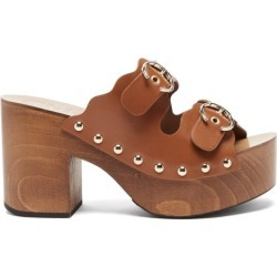 Chloé - Ingrid Buckled-strap Leather Clogs - Womens - Tan found on Bargain Bro UK from Matches UK