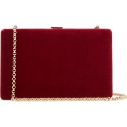 Anya Hindmarch - Clutch-on-a-chain Velvet Clutch - Womens - Burgundy found on MODAPINS from Matches Global for USD $595.00