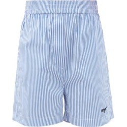 MSGM - Elasticated-waist Striped Cotton-blend Shorts - Womens - Blue Stripe found on Bargain Bro UK from Matches UK