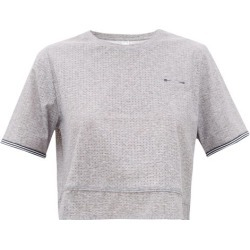 The Upside - Whitney Cropped Stretch-technical T-shirt - Womens - Grey found on Bargain Bro Philippines from MATCHESFASHION.COM - AU for $60.83