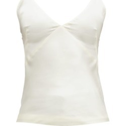 Haider Ackermann - V-neck Satin Camisole - Womens - Cream found on MODAPINS from Matches Global for USD $287.00