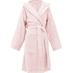 Tekla - Hooded Cotton-terry Bathrobe - Womens - Light Pink found on Bargain Bro from Matches Global for USD $110.96