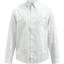 Jacquemus - Simon Leaf-print Cotton-poplin Shirt - Mens - Blue found on Bargain Bro UK from Matches UK