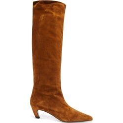 Khaite - Davis Square-toe Suede Knee-high Boots - Womens - Tan found on Bargain Bro UK from Matches UK