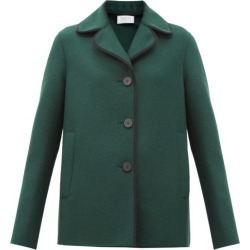 Harris Wharf London - Single-breasted Pressed-wool Coat - Womens - Dark Green found on MODAPINS from Matches UK for USD $512.30