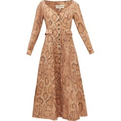 Mara Hoffman - Silvana Snake-print Tencel-blend Shirt Dress - Womens - Cream Print found on MODAPINS from Matches UK for USD $264.34