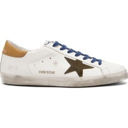 Golden Goose - Superstar Suede-trimmed Leather Trainers - Mens - White found on Bargain Bro UK from Matches UK