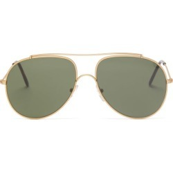 L.g.r Sunglasses - Kilimanjaro Aviator Metal Sunglasses - Mens - Green Gold found on Bargain Bro from Matches Global for USD $247.00