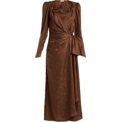Attico - Jacquard Midi Dress - Womens - Brown found on MODAPINS from MATCHESFASHION.COM - AU for USD $1189.10